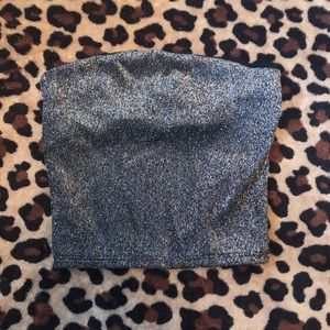 urban outfitters silver sparkley tube top